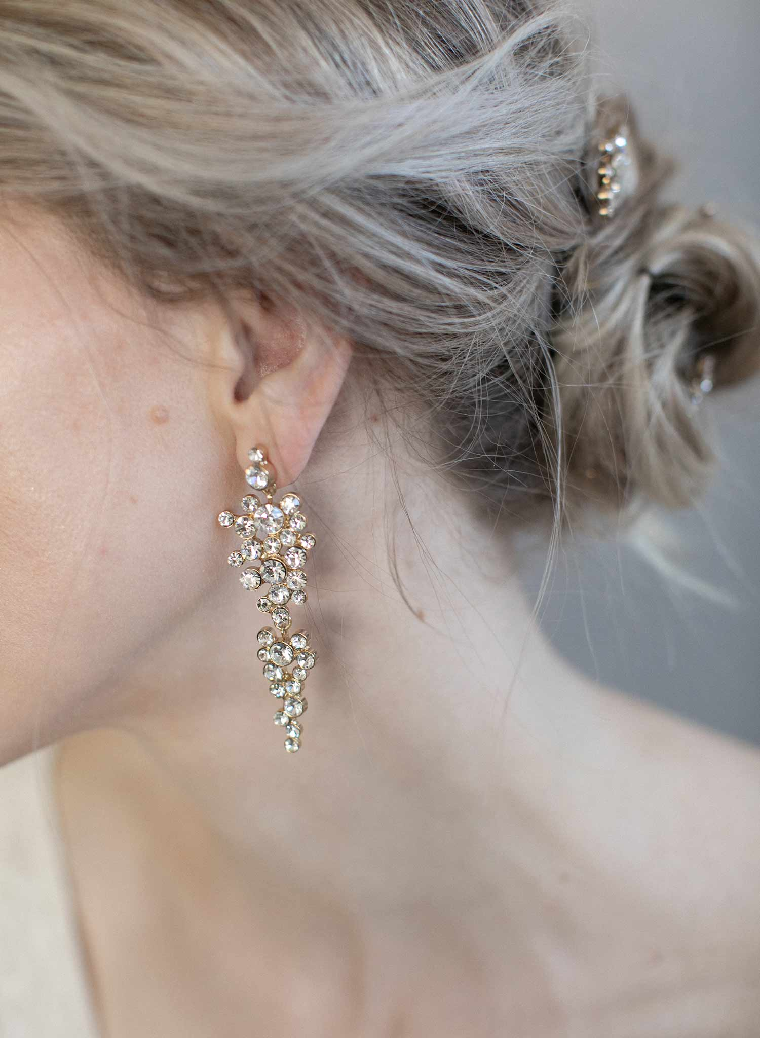 Champagne bubbles drop earrings - Style #976