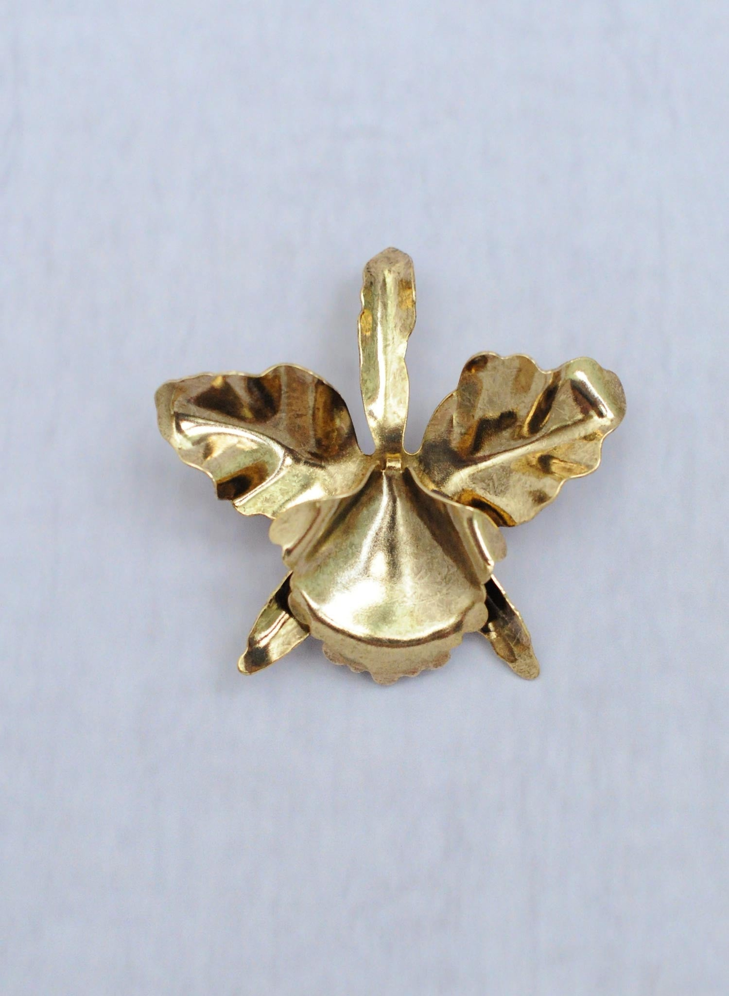 Gold plated orchid hairclip - Style #361