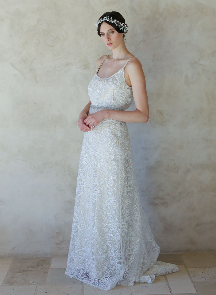 blousy top lace gown, twigs and honey, myra callan bridal, bohemian bridal gown