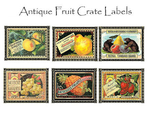 Fruit Crate Label Notecards