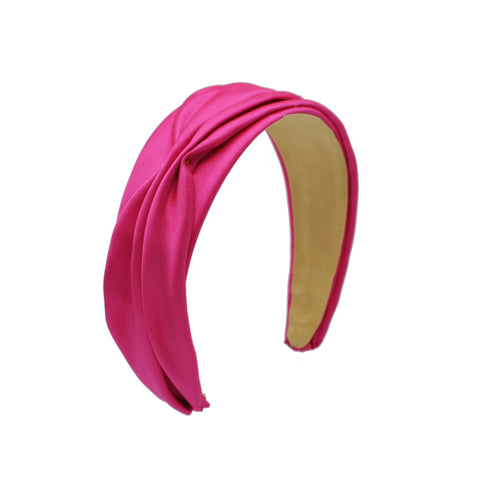Hot Pink Satin Wide Headband