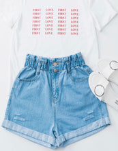 Load image into Gallery viewer, NOT YOUR BABY DENIM HIGH WAIST SHORT