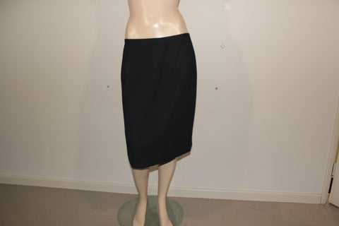 Suzanne Grey Navy Blue Tailored Skirt Sz 16
