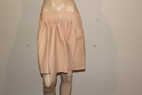 TEMT Cream Faux Leather Mini Skirt Sz 8