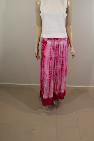Ruby Street 100% Cotton Pink Tie Dyed Skirt One Size Fits All NWT