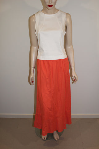 Target Cotton Blend Orange Maxi Skirt Sz 14