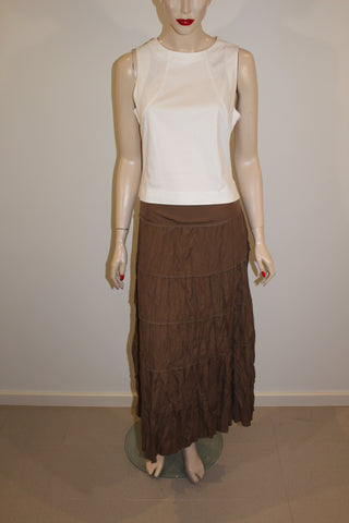 Wombat Light Brown Maxi Skirt Sz 12
