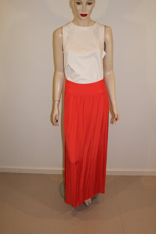 Sportsgirl Orange Maxi Skirt Sz 12 100% Viscose NWT