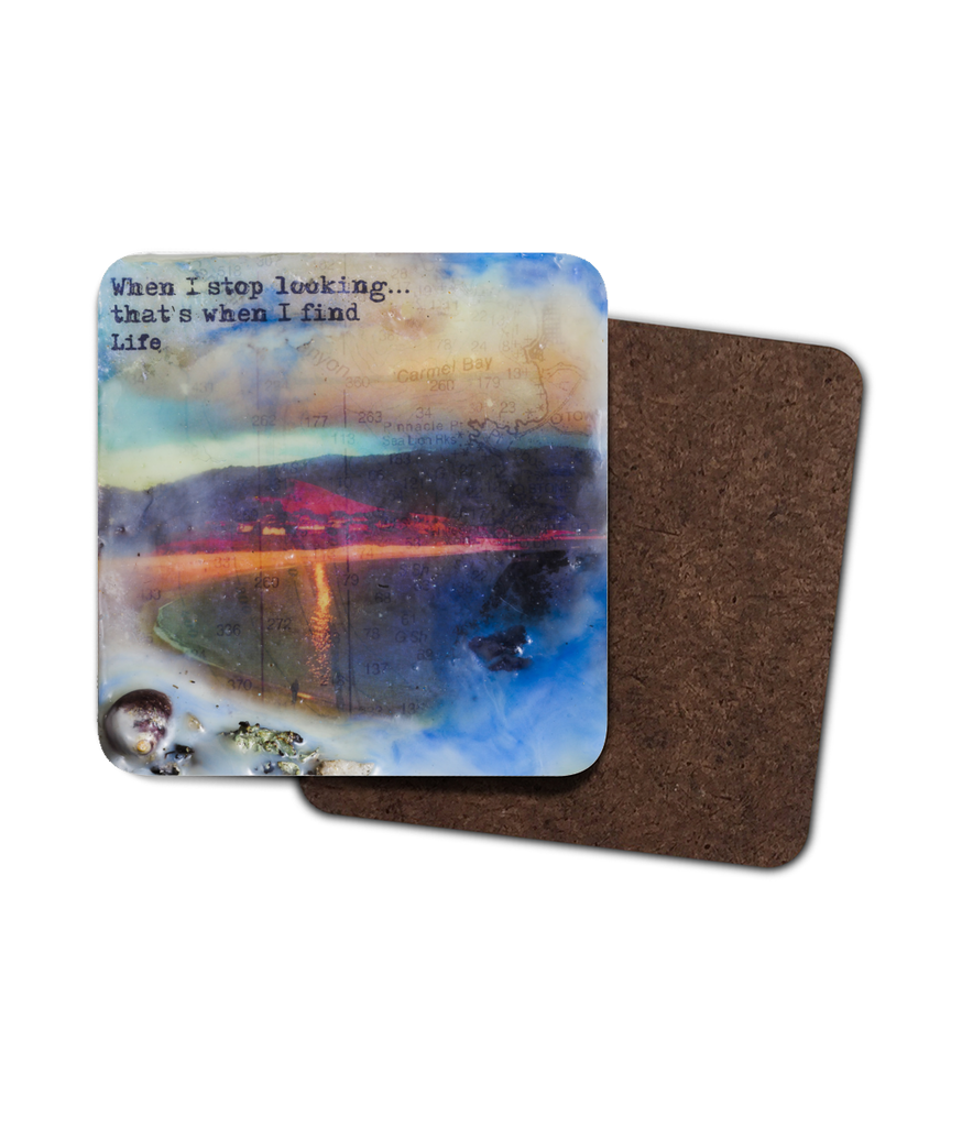 "Sea Echoes Collector Series: v1.8 ""When I stop looking that's when I find life"" - Coaster"