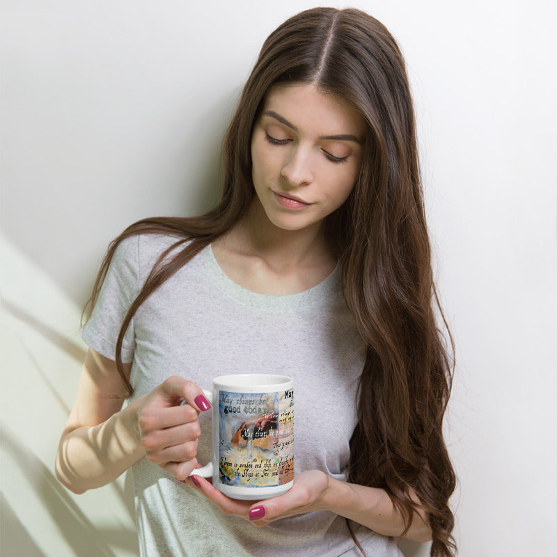 "Prayer in Hidden Depths Collector Series: ""May Things Be Good Today"" Art - Mug"
