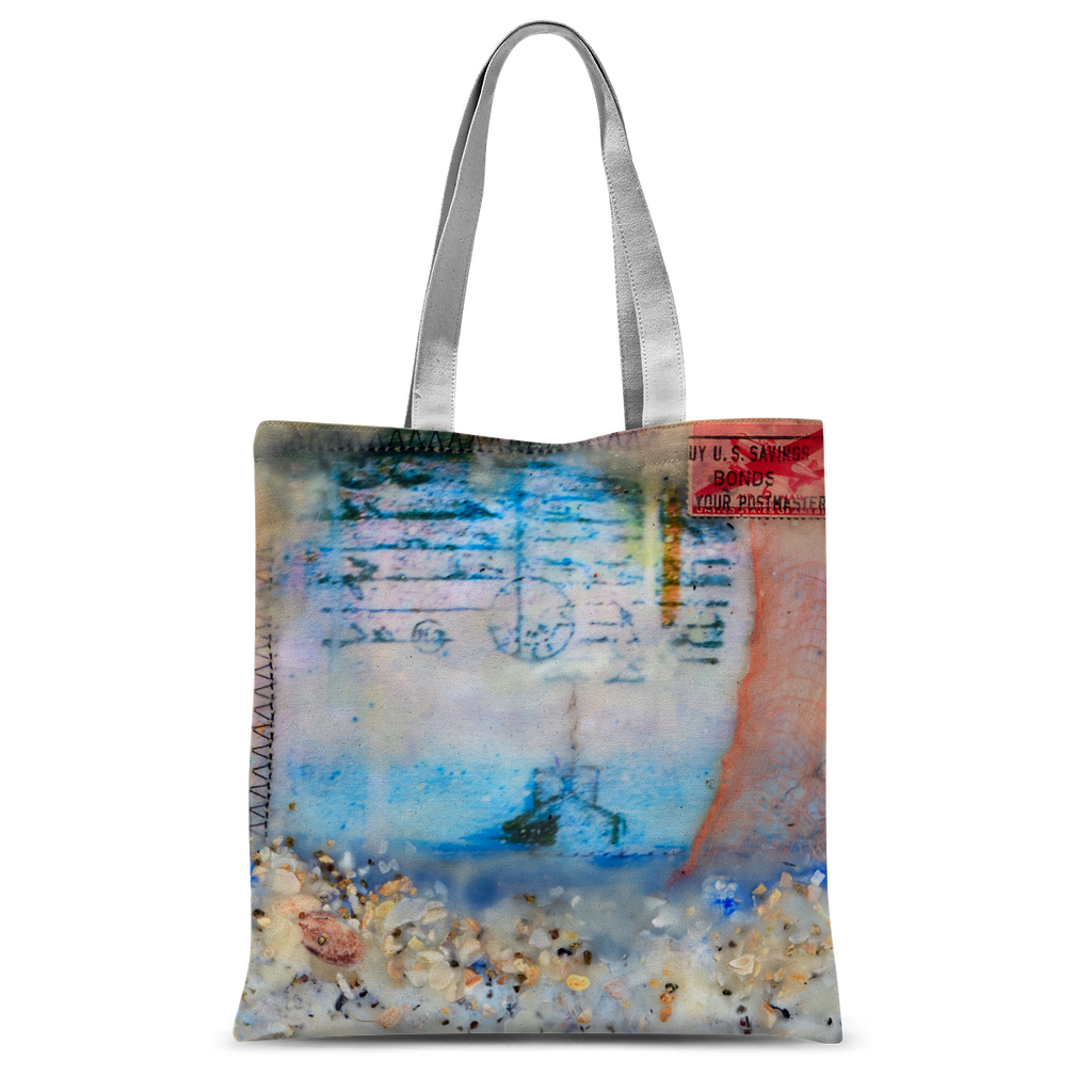 "Sea Echoes Series v1.2 ""Let the Sea Set You Free"" Tote Bag"