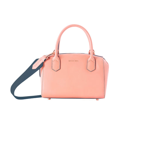 Leather Bucket Bag - Rose