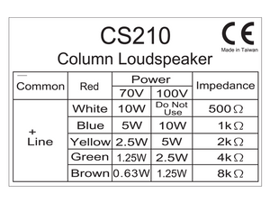 CS210 Tapping Label
