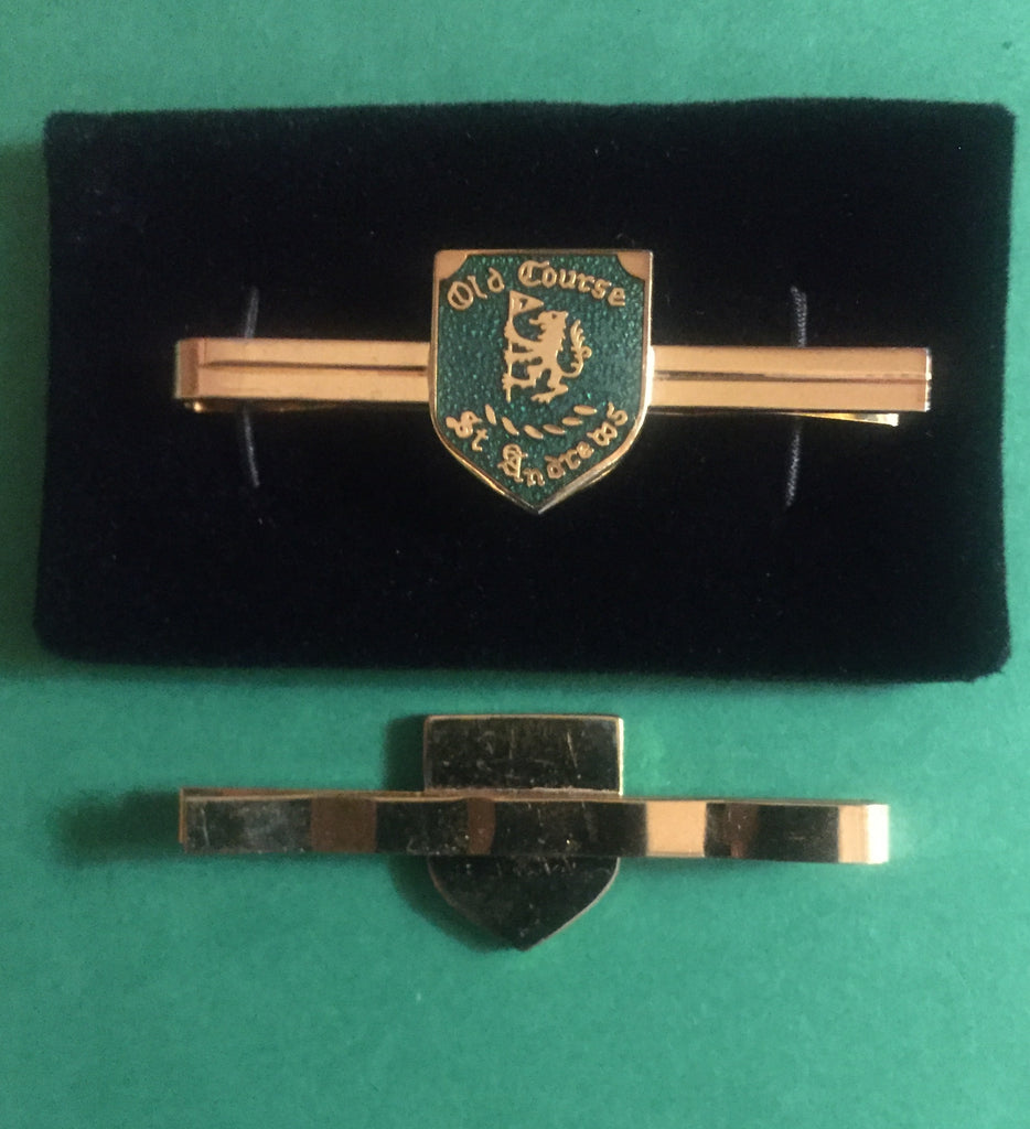 Old Course St. Andrews vintage green enamel tie clip (1003)