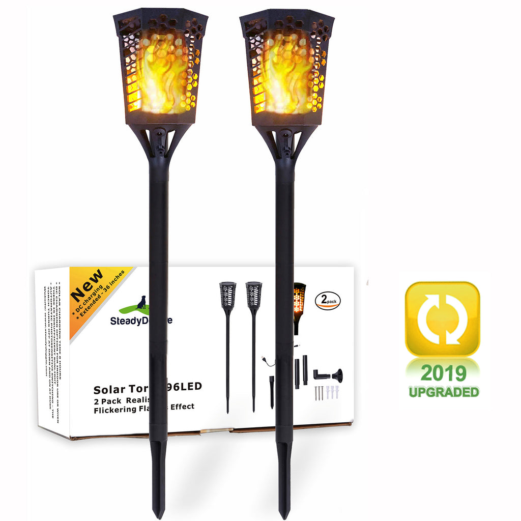 YYB0180 - Solar Torch Landscaping Light Kit 2 Pack