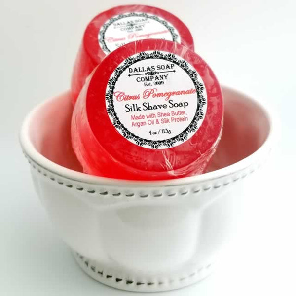 Citrus Pomegranate Silk Shave Soap - 4 ct