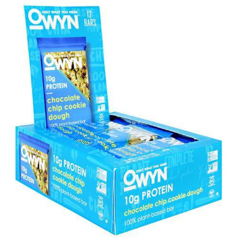 Only What You Need OWYN Bar Tart Cherry Lemon - Gluten Free - Chocolate Chip Cookie Dough / 12 ea - Bars