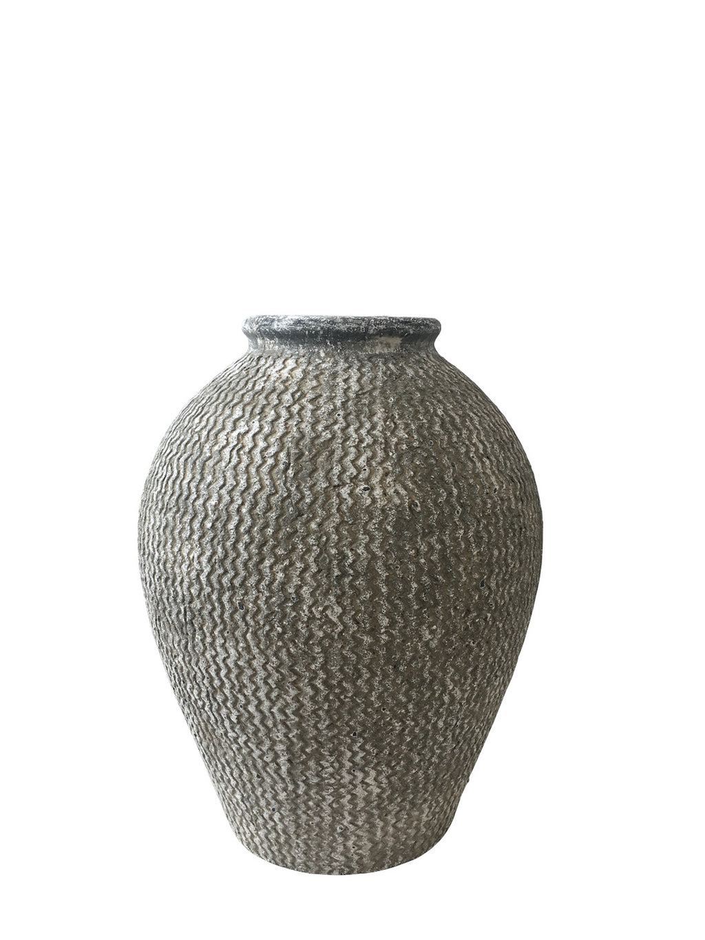 Sm. Ceramic Tall Terracotta Urn - AboutRuby.com