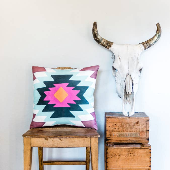 Southwestern Tribal Print Pillow - AboutRuby.com