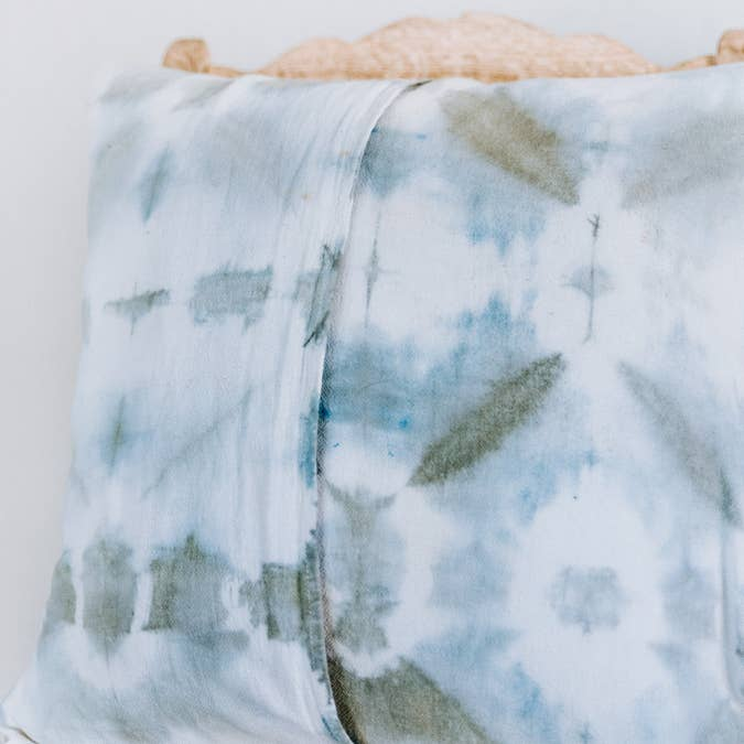 Green Shibori Hand Dyed Pillow - AboutRuby.com