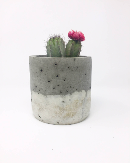 Large Concrete Ombre Pot - AboutRuby.com