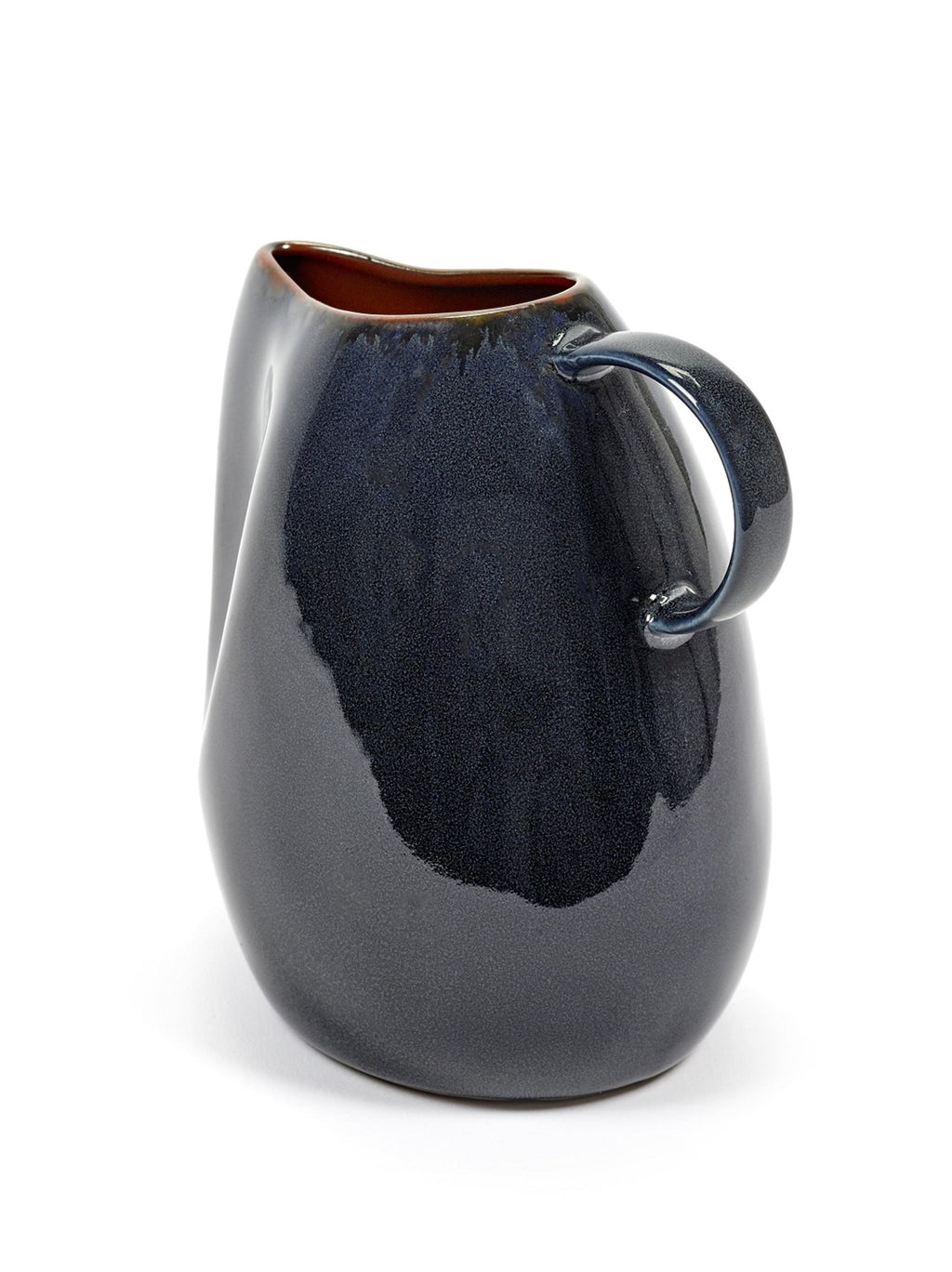 Small Stoneware Carafe in Dark Blue - AboutRuby.com