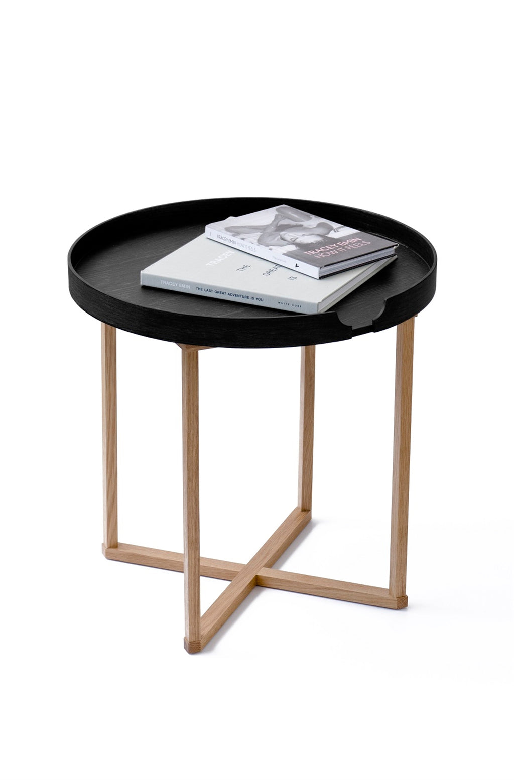 Black & Oak Side Table - AboutRuby.com