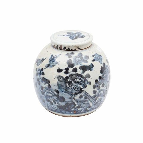 Birds & Brushstrokes Lidded Jar - AboutRuby.com