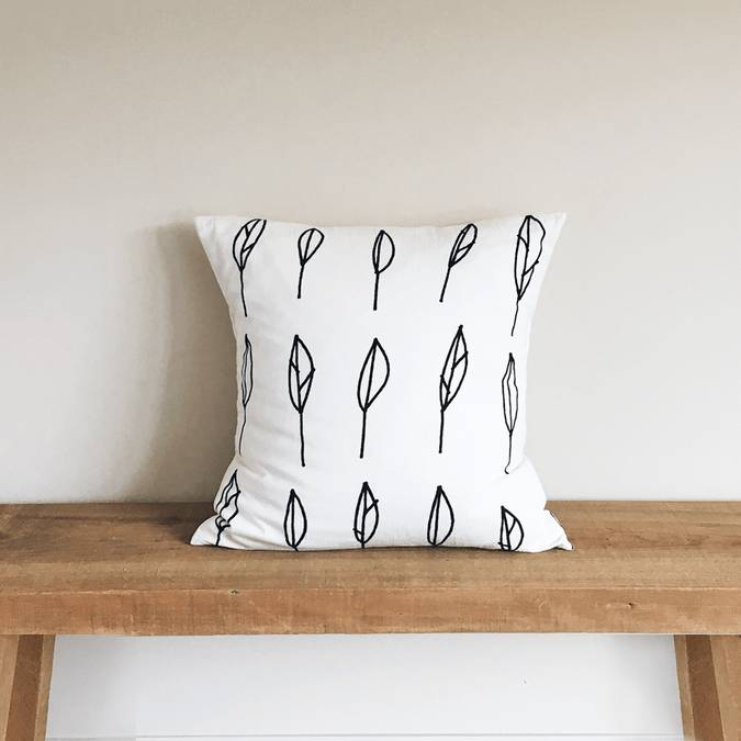 Leaves | Organic Cotton Pillow - AboutRuby.com