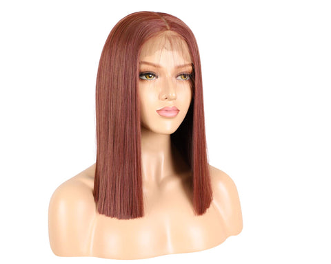 SYN Collection | Synthetic Hair Lace Unit | Copper Brown Bob