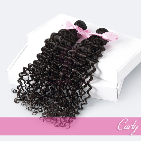 THREE BUNDLE DEAL OF VIRGIN HAIR WEFTS | LOVE COLLECTION | Curly
