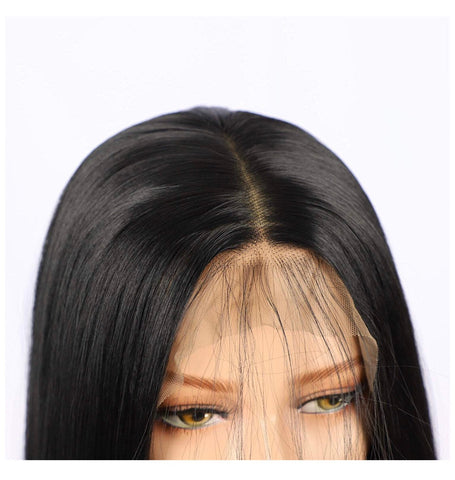 SYN Collection | Synthetic Hair Lace Unit | Black Straight 22""