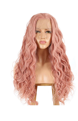 SYN Collection | Synthetic Hair Lace Unit | Dusty Pink Wavy 22""
