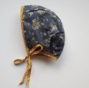 Blue floral bonnet - Lorin Lane Design