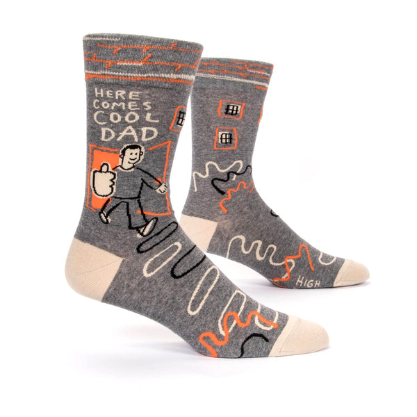 Blue Q Men's Socks Here Comes Cool Dad