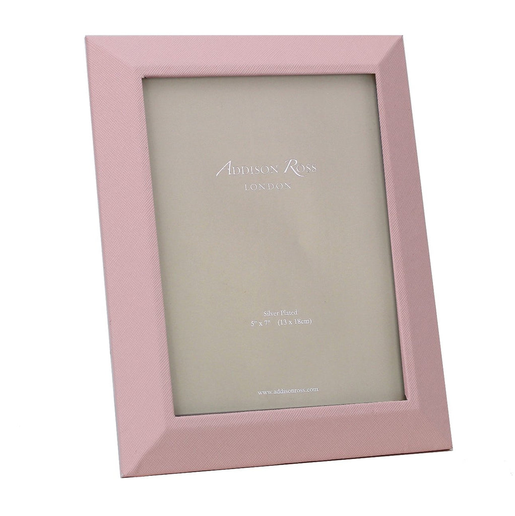 Pink Faux Leather Photo Frame - Leather Frames - Addison Ross
