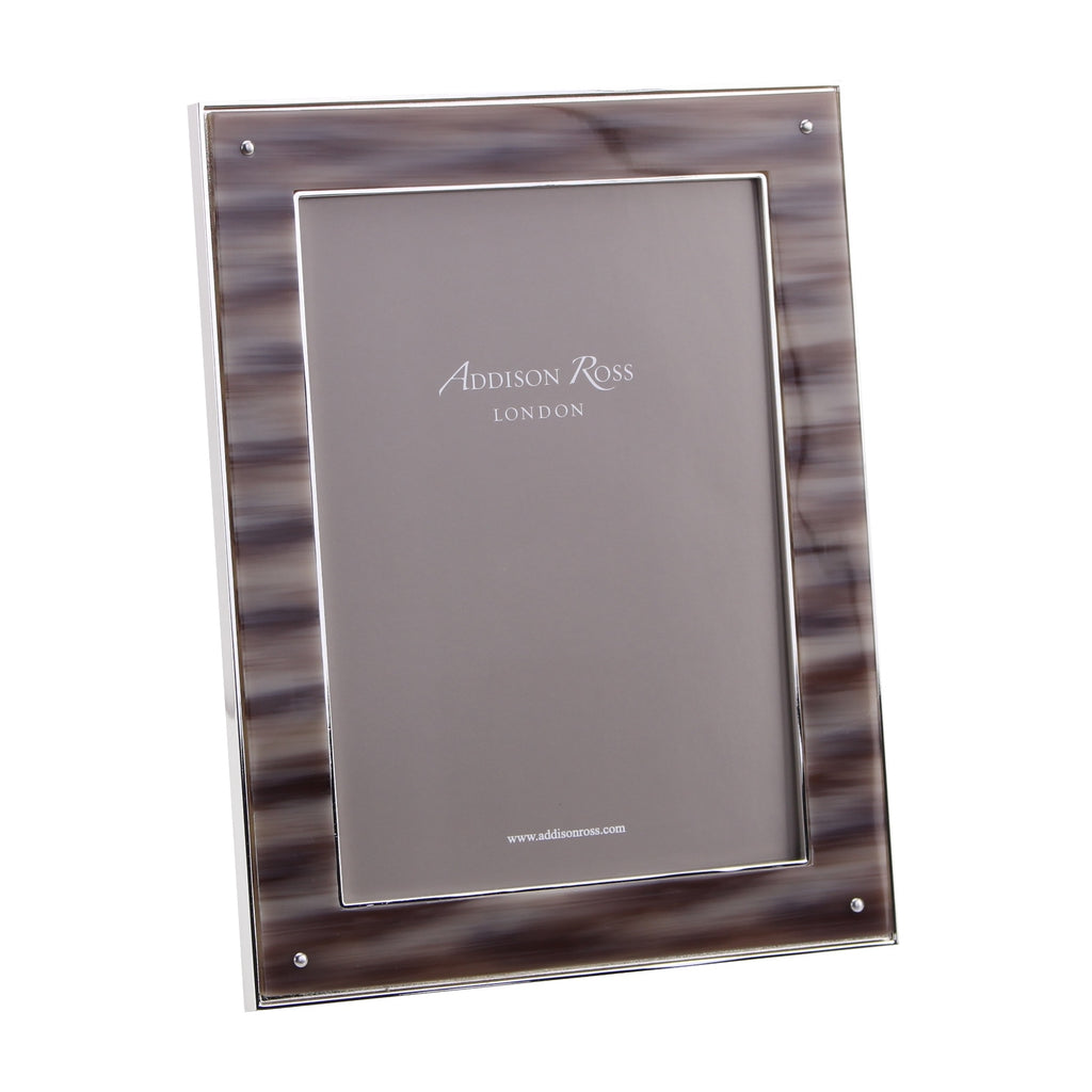 Faux Horn & Silver Photo Frame - Exotic Frames - Addison Ross