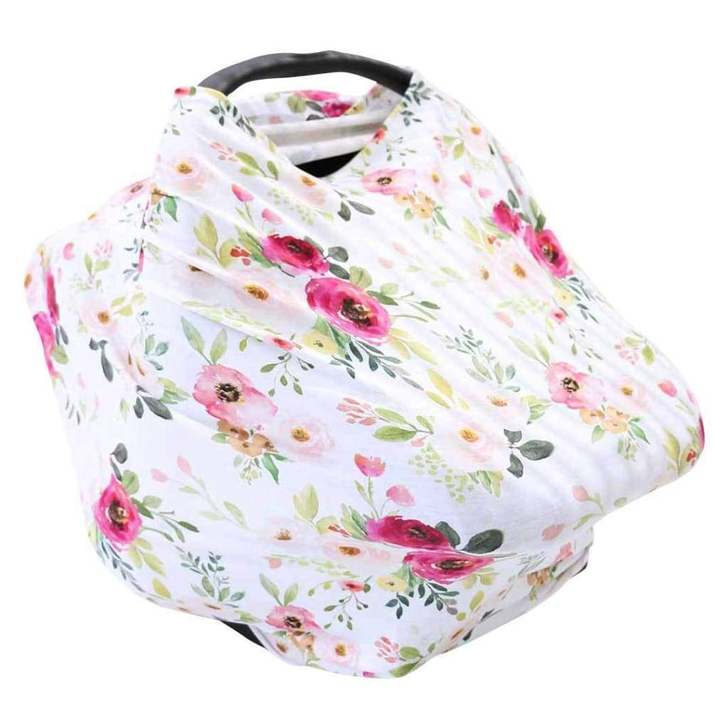 5 in 1 Nursing Scarf | Pastel Floral - Accessories - Affordable Boutique Fashion