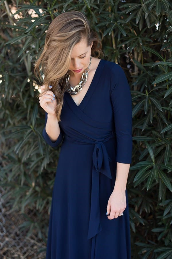 Postpartum Wrap Dress - Multiple Colors