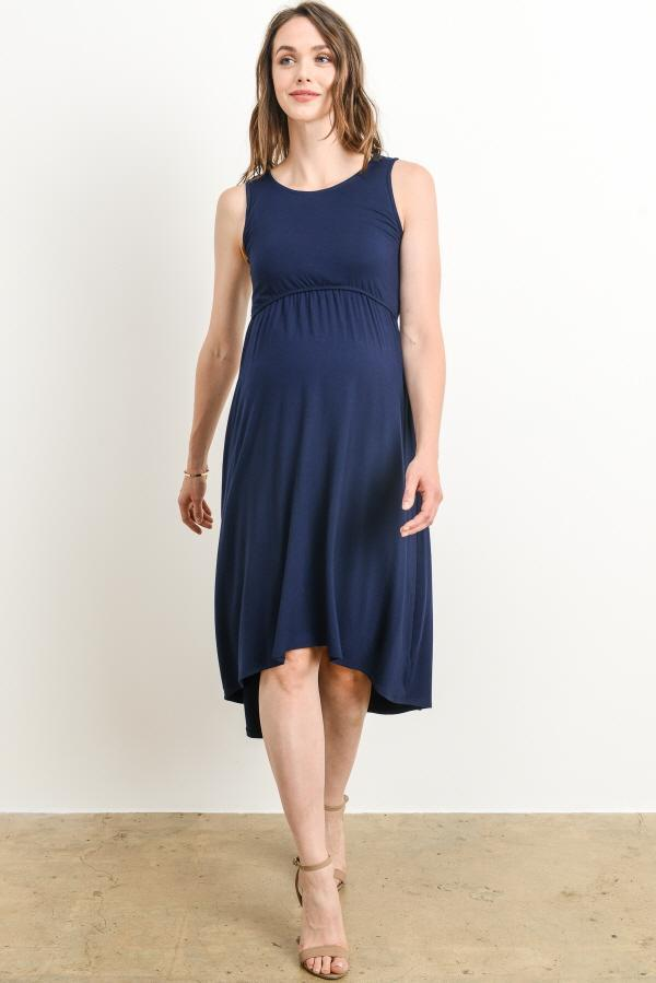 Sunday Navy Midi Dress