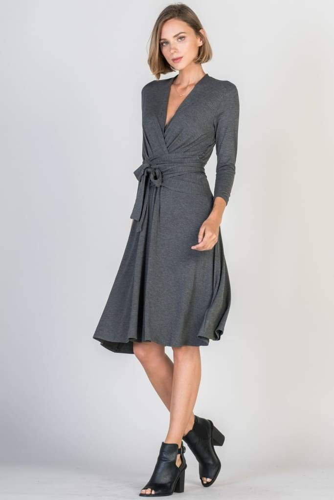 Alex Reverse Wrap Dress | Nursing Friendly - Dresses - Affordable Boutique Fashion