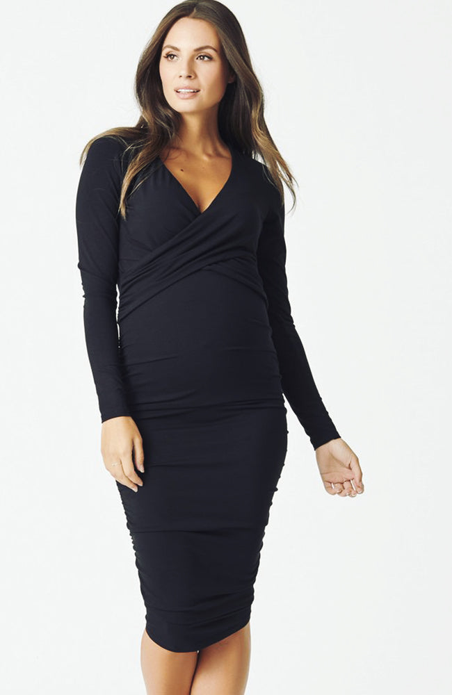 Momiform Criss-Cross Nursing Dress