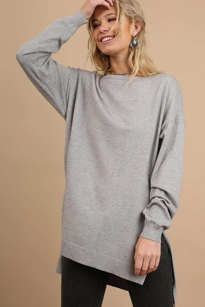 Coffee Shop Knit Pullover - Tops - Affordable Boutique Fashion