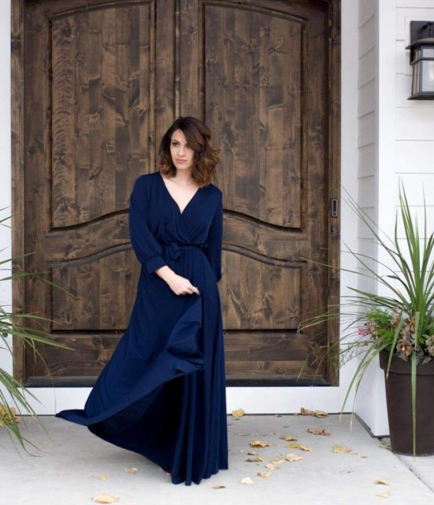 Charlotte Wrap Dress - Navy