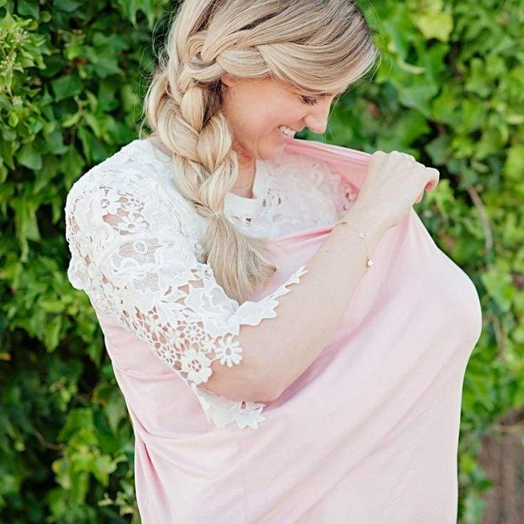 MOM 5 in 1 Nursing Scarf | Blush - Accessories - Affordable Boutique Fashion