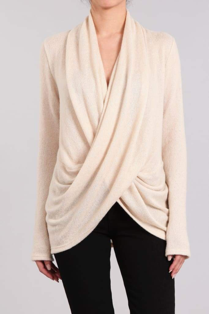 Momiform Draped Hacci Knit | Nursing Friendly - TOPS - Affordable Boutique Fashion