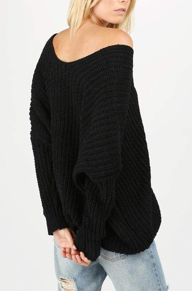 Momiform Knit Pullover by DREAMERS - SWEATER - Affordable Boutique Fashion