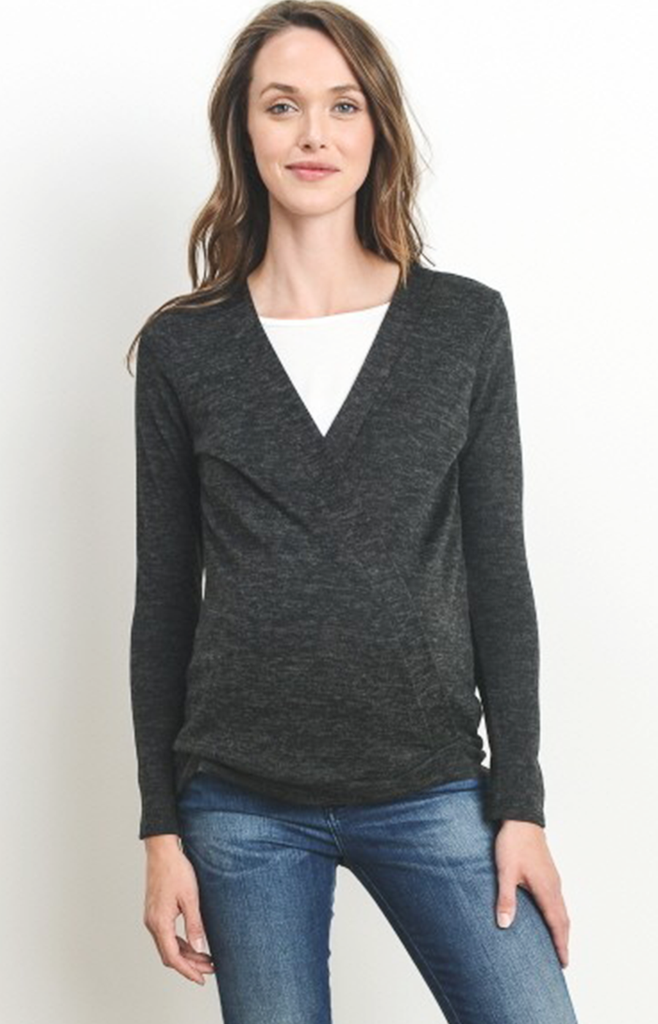 Cross Front Nursing Friendly Knit