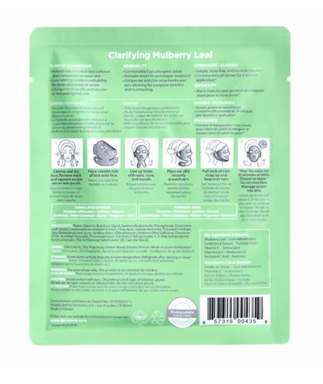 Dermovia Lace Your Face Facial Masks - Clarifying Mulberry