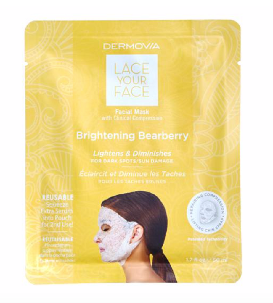 Dermovia Lace Your Face Facial Masks - Brightening Bearberry